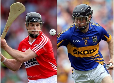 Cork's Shane O'Neill and Tipperary's Conor O'Brien.
