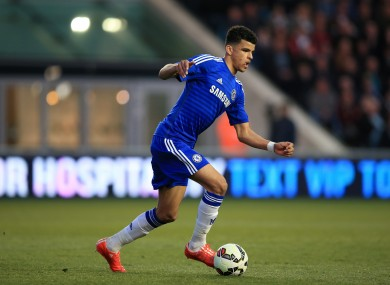 Solanke in action for Chelsea in the FA Youth Cup.