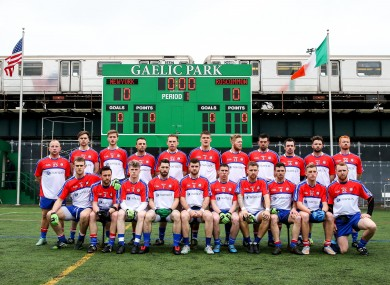 The New York panel ahead of last year's one-point defeat to Roscommon.