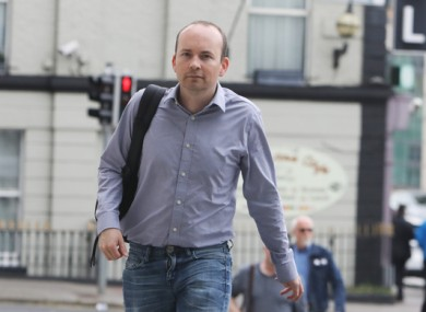 Paul Murphy arriving at the Central Criminal Court of Justice in Dublin last week.