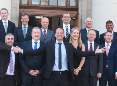 Leo Varadkar with his new junior ministers.