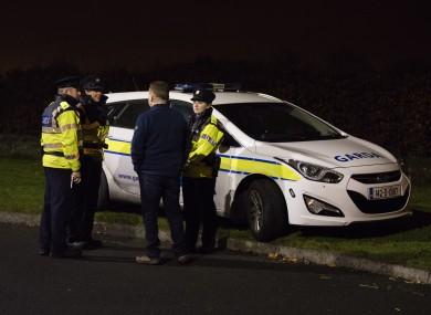 GardaÍ at the scene in Lucan in December