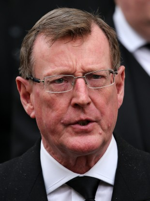 David Trimble at the funeral of Margaret Thatcher in 2013.