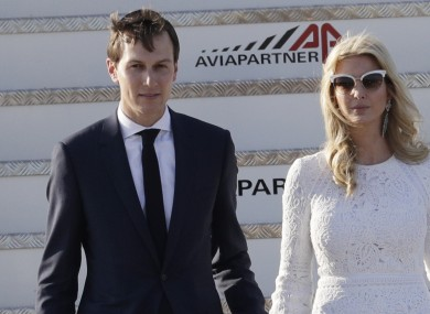 Jared Kushner arrives in Rome with his wife Ivanka Trump.