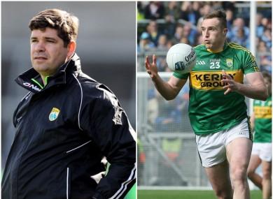 Kerry manager Eamonn Fitzmaurice and player Brendan O'Sullivan.