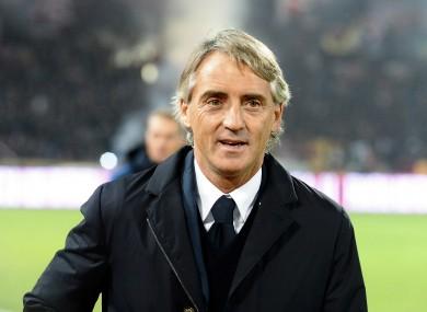 Former Inter head coach Roberto Mancini