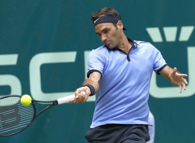 Roger Federer en route to another title in Halle