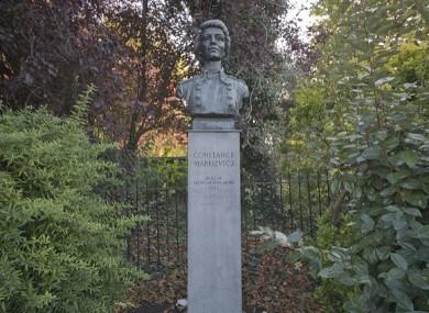 The Countess Markiewicz bust in Dublin.