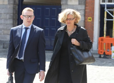 Pictured is Fiona Ward after giving evidence on the second day of public hearing at the Disclosures Tribunal in Dublin Castle.