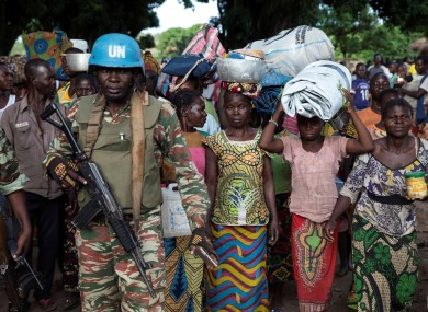 A Cameroonian United Nations peacekeeper