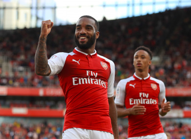 Lacazette joined the Gunners for £52 million.