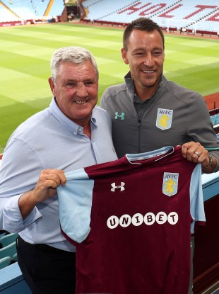 Terry was unveiled at Villa Park yesterday.