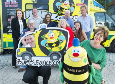 Committee members at the launch of Cork's BUMBLEance fundraising drive.
