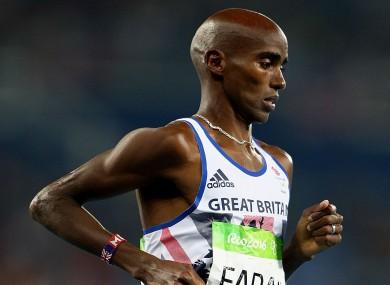 Four-time Olympic champion Mo Farah.