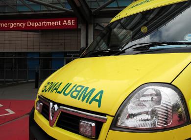 Stock photograph of an NHS Ambulance.