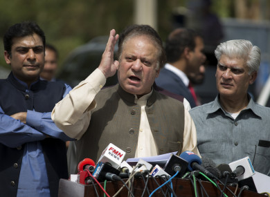 This is the third time Nawaz Sharif has been removed from office.