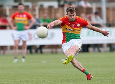 Paul Broderick hit the net for Carlow today.