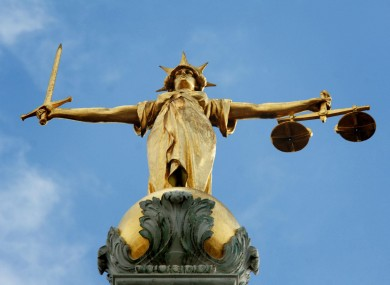 Lady Justice at the Old Bailey.