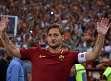 Totti Opts To Call Time On Glittering Playing Career To Take Up New