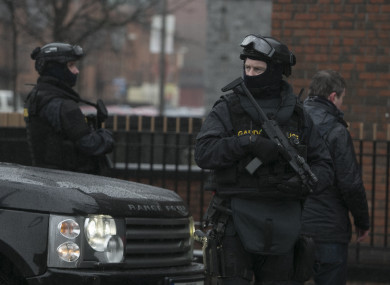 Members of the Emergency Response Unit at a checkpoint in Dublin last year.