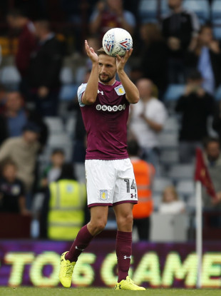 Conor Hourihane took home the match ball yesterday at Villa Park.
