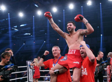 Cleverly after claiming his world title against Juergen Braehmer last October.