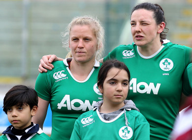 Molloy (left) has been named as Ireland's World Cup captain.