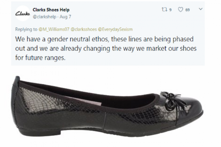 447184bb04d7 Clarks are pulling the controversial shoes that caused a scandal over  sexist marketing last week