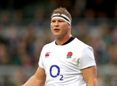 England captain Dylan Hartley.