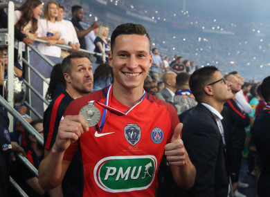 PSG's Julian Draxler could be on his way to Arsenal.