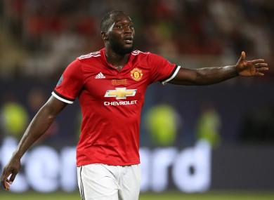 Romelu Lukaku has given Man United the lead against West Ham.