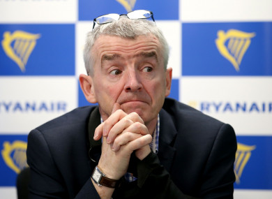 Ryanair CEO Michael O'Leary.