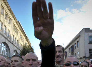 File photo of someone performing the Nazi salute.
