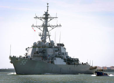 File photo of the the USS John S McCain.