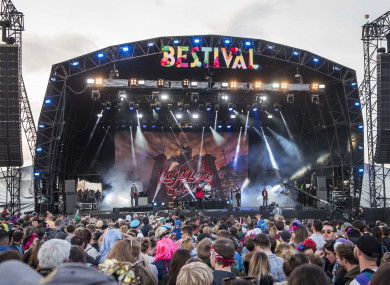 General view of the Castle Stage at Bestival.