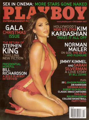 Kim Kardashian is featured on the December 2007 cover of Playboy.