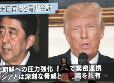 Japanese President Shinzo Abe and US President Donald Trump spoke twice over the weekend.
