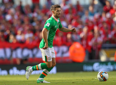 Wes Hoolahan was an unused sub for Ireland against Georgia today.