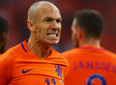 Netherlands captain Arjen Robben.
