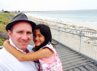 David Conway with his daughter Keisha