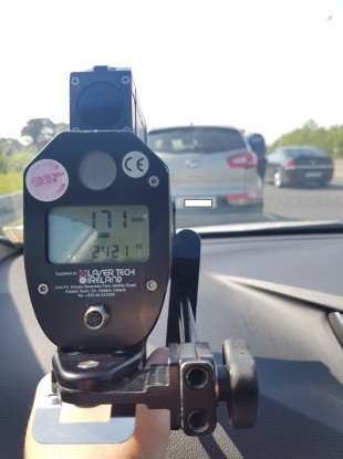 A person clocked speeding during the last National Slowdown Day.