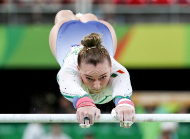 O'Reilly competing at Rio 2016.