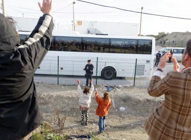 Unaccompanied migrant children leave