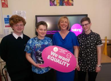 Doherty met young people at BeLonG To this week.