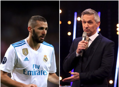 The Match of the Day presenter was critical of the French striker.