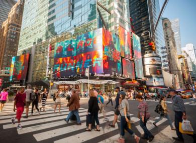 Photo of Times Square taken last week