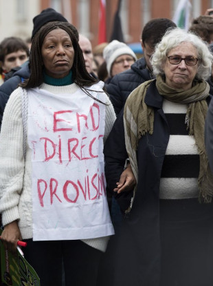 Protesters called for an end to Direct Provision at a demonstration last weekend