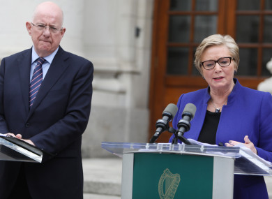 The opposition has been attacking both Charlie Flanagan and Frances Fitzgerald for their comments.