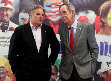 Gosper and Spring: Ireland's bid team have aired their criticisms.