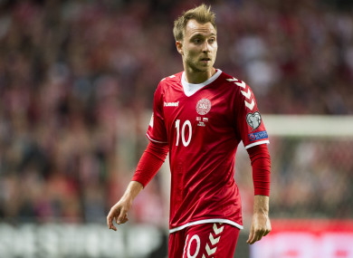 Christian Eriksen is Denmark's star player.